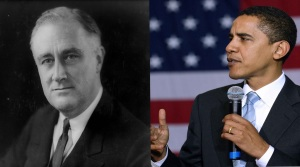 Franklin D. Roosevelt and Barack Obama